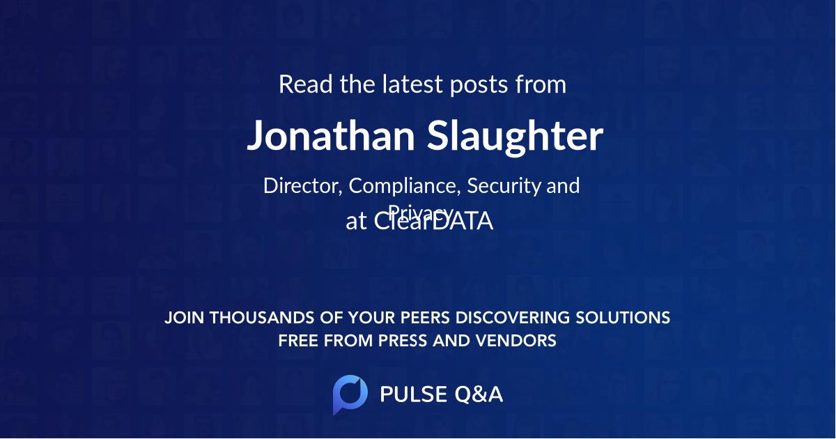 Jonathan Slaughter