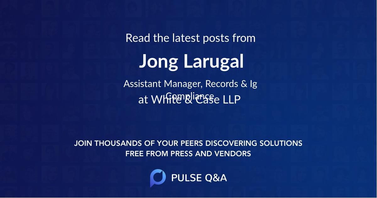 Jong Larugal