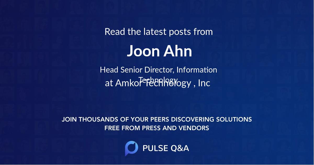 Joon Ahn