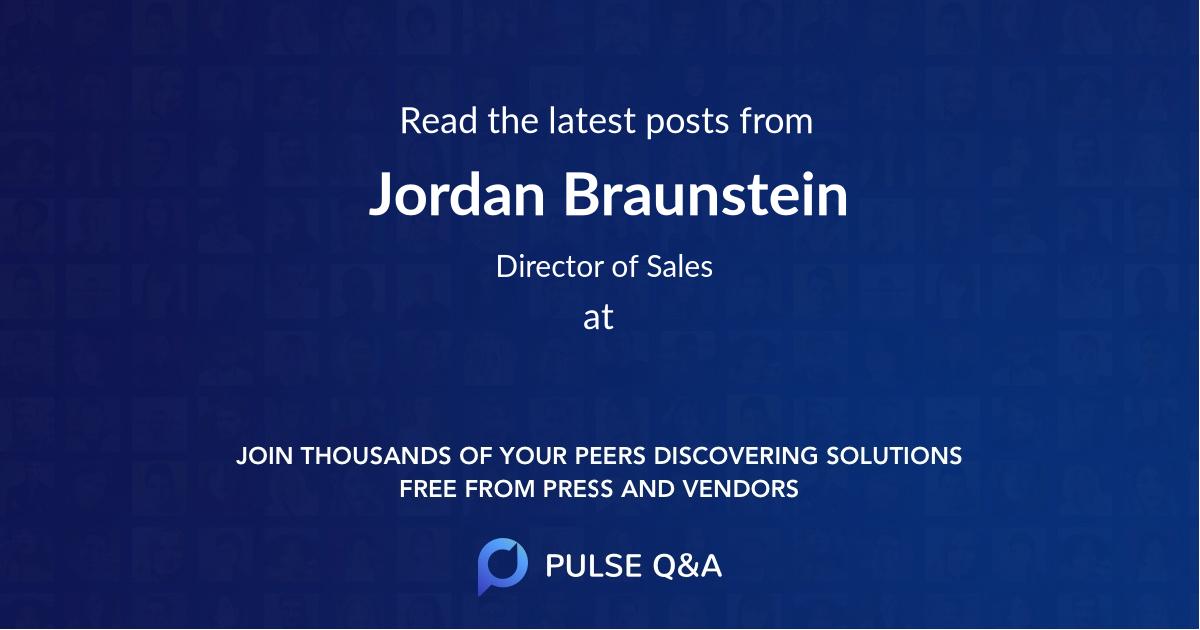 Jordan Braunstein