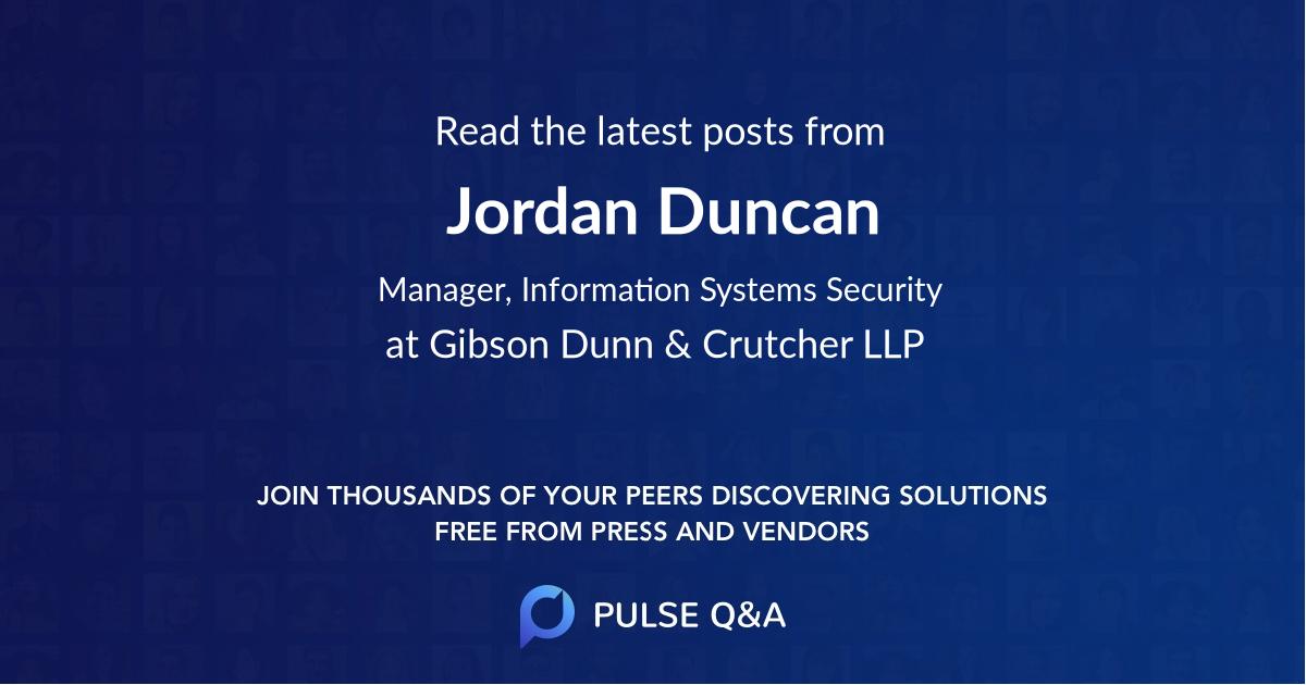 Jordan Duncan