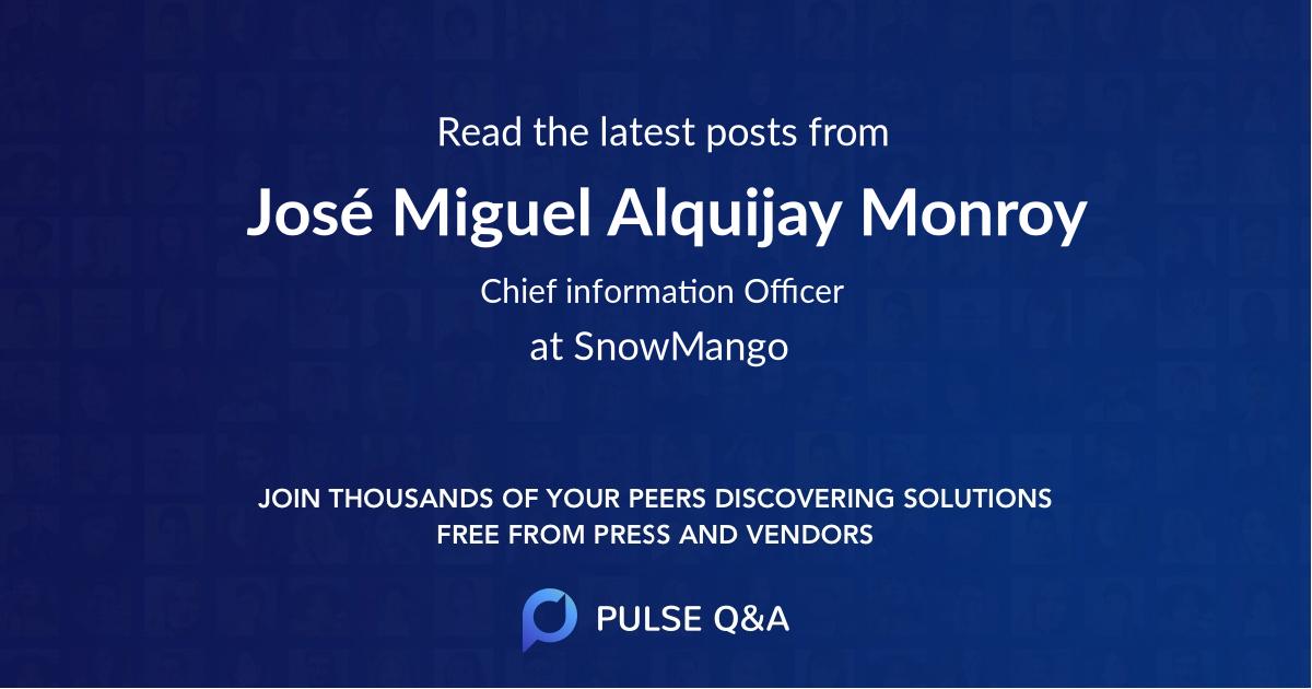 José Miguel Alquijay Monroy