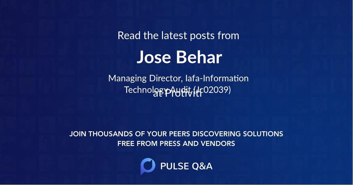 Jose Behar