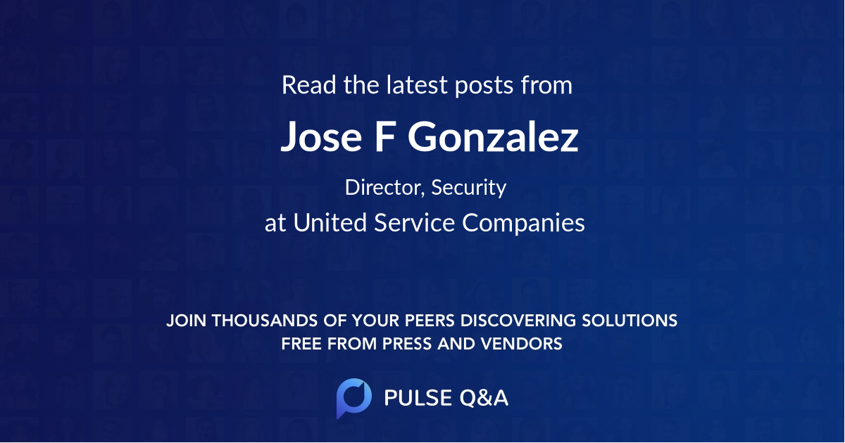 Jose F Gonzalez
