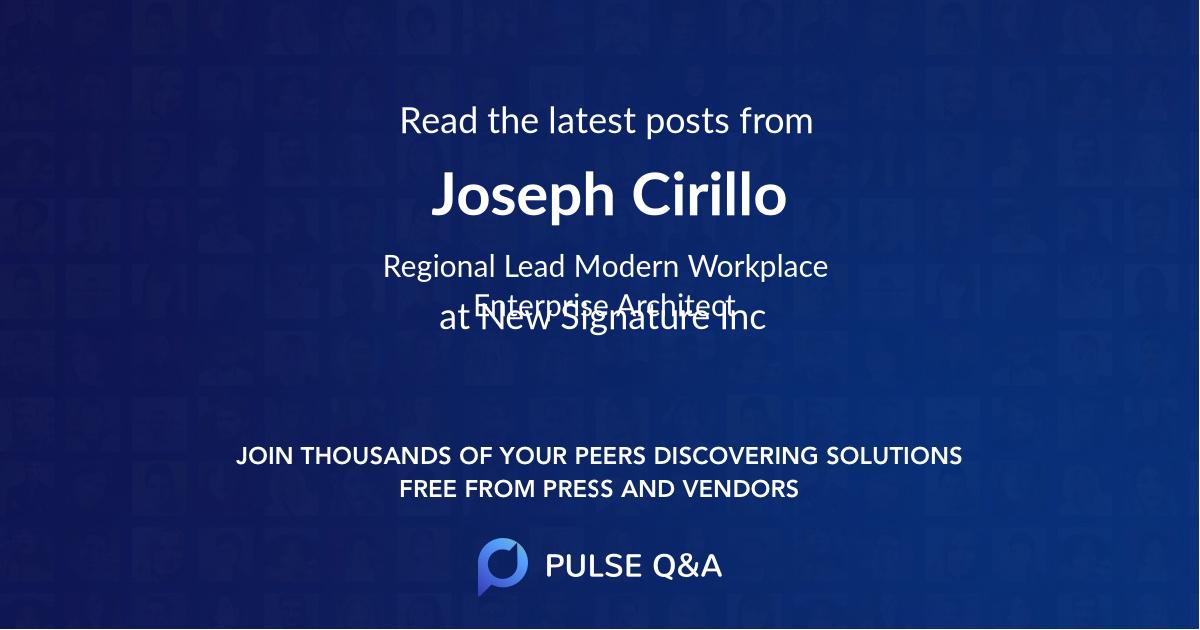 Joseph Cirillo