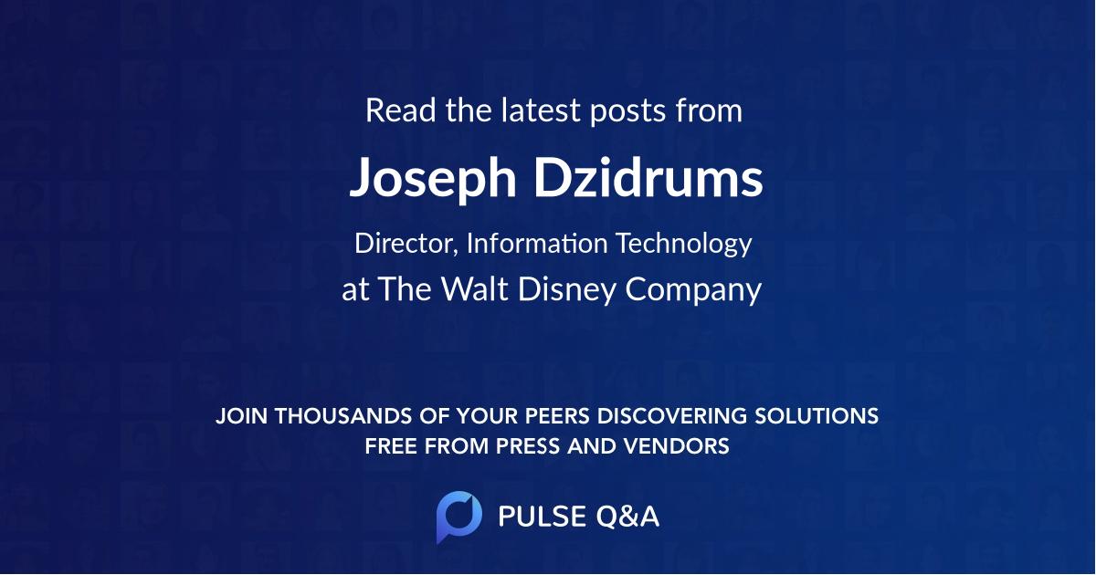 Joseph Dzidrums