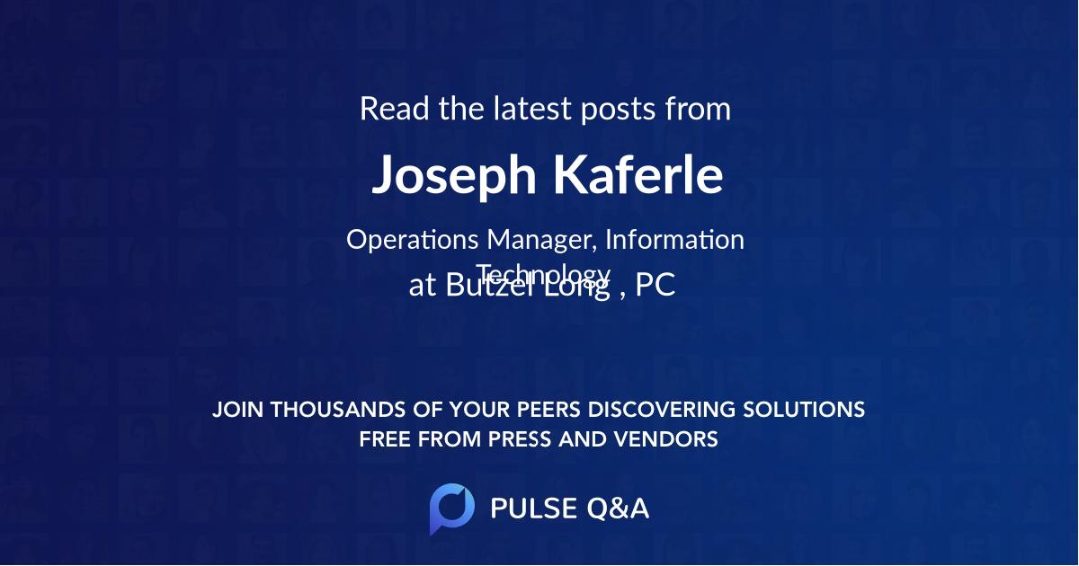 Joseph Kaferle