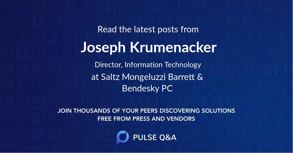Joseph Krumenacker