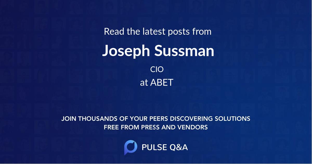 Joseph Sussman