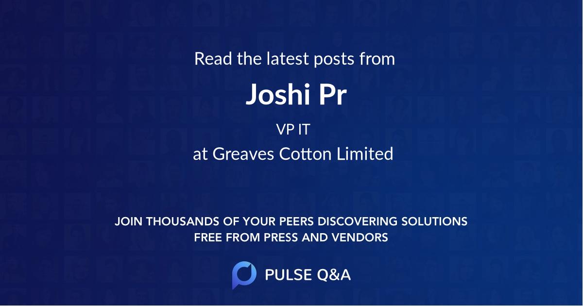 Joshi Pr