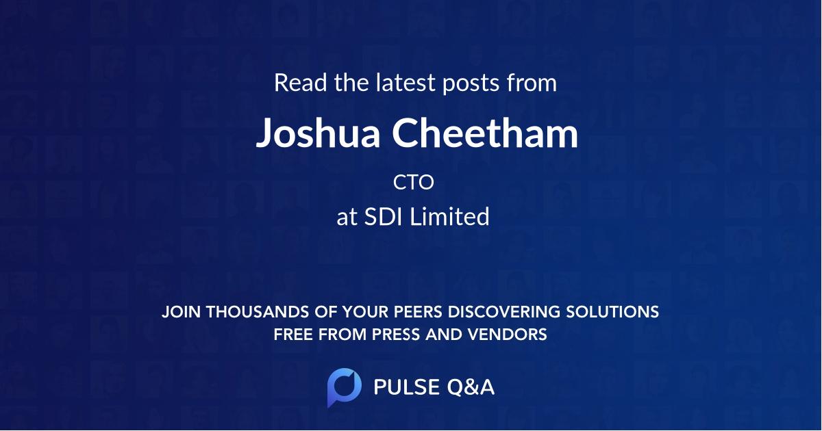 Joshua Cheetham