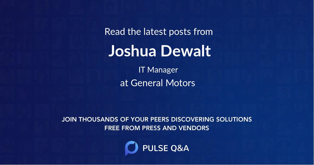 Joshua Dewalt