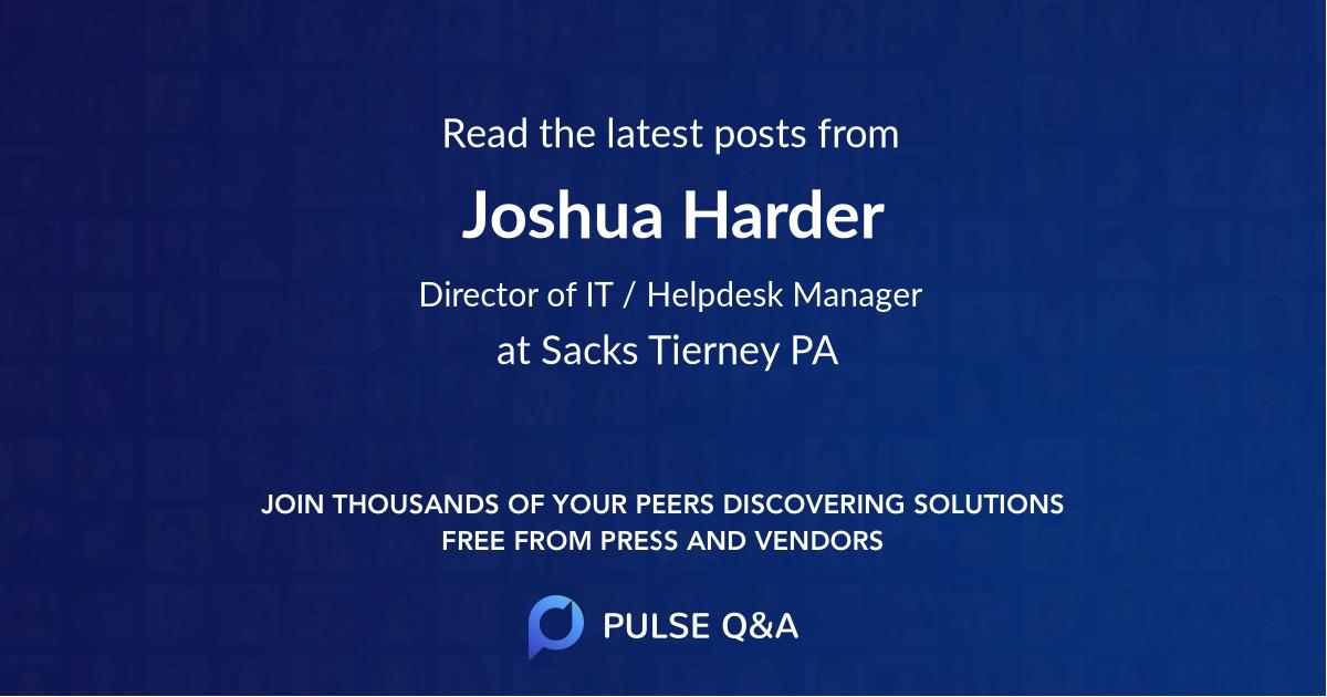 Joshua Harder