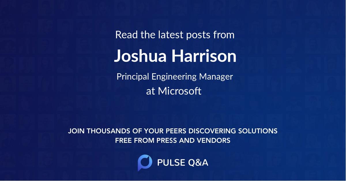Joshua Harrison