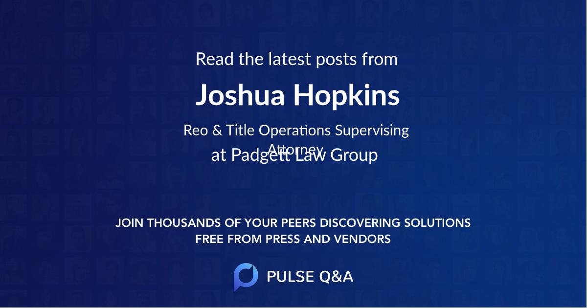 Joshua Hopkins