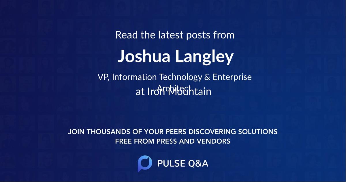 Joshua Langley