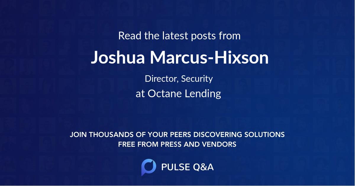 Joshua Marcus-Hixson