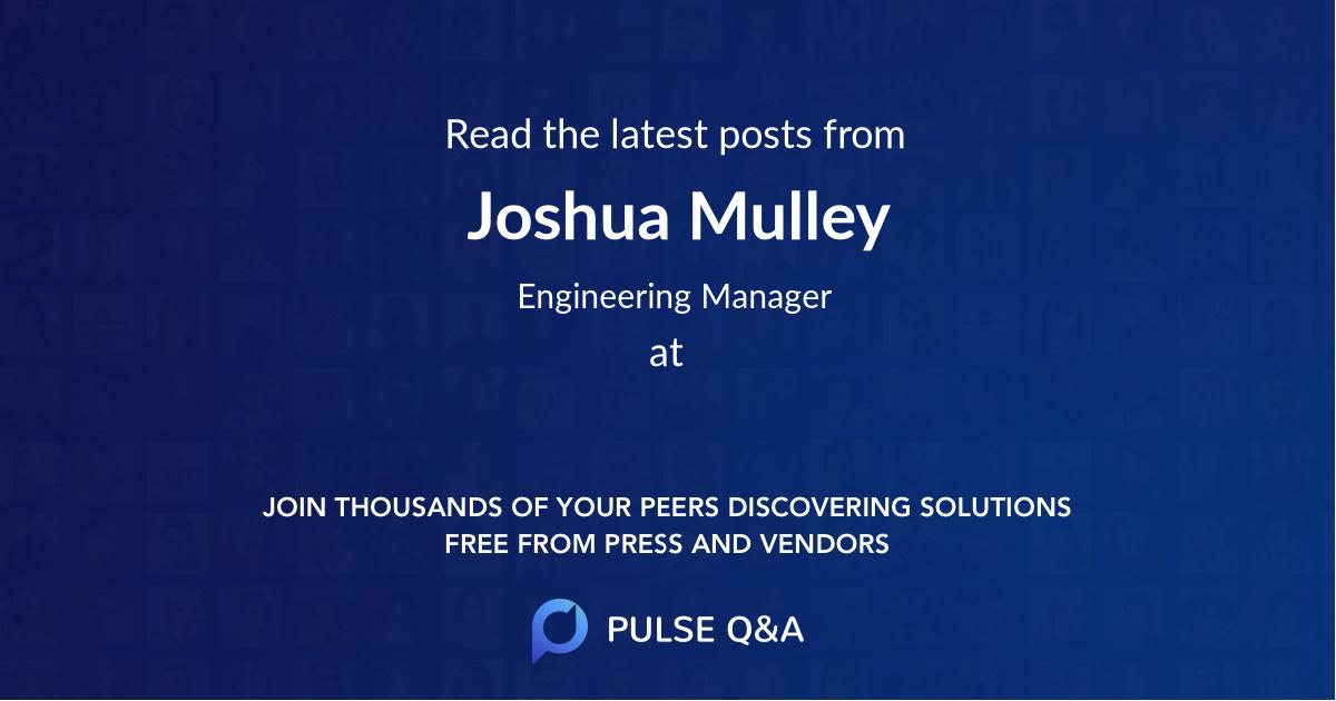 Joshua Mulley