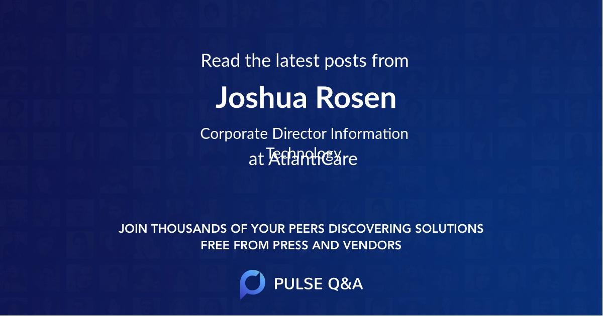 Joshua Rosen