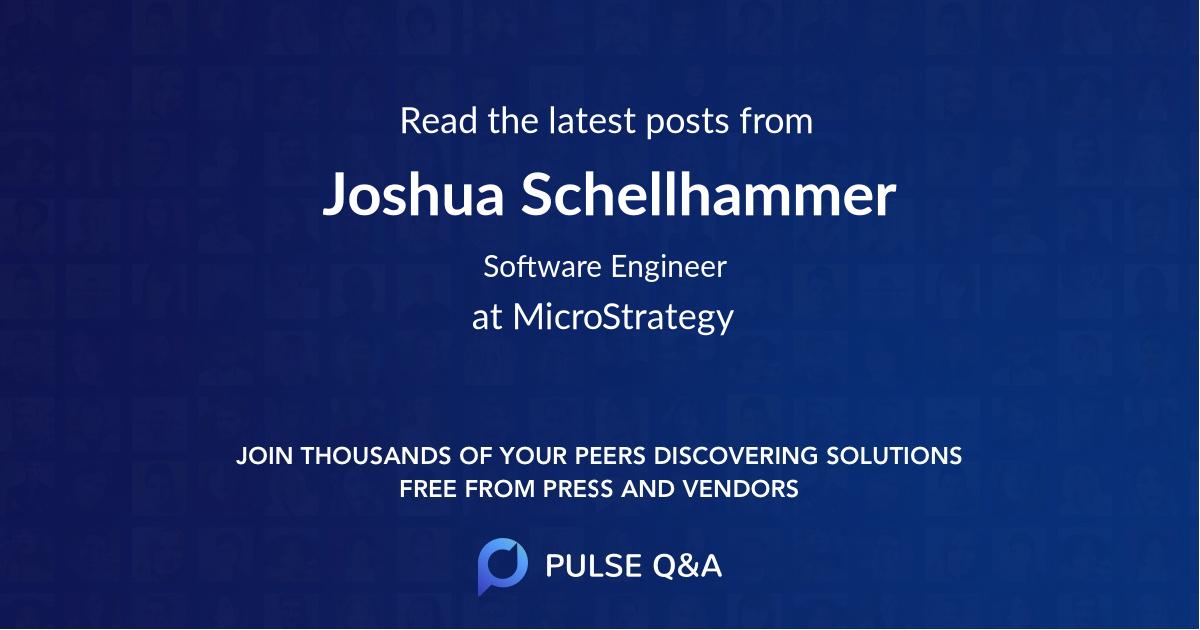 Joshua Schellhammer