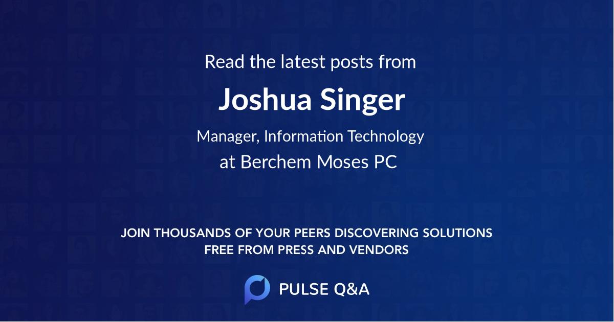 Joshua Singer