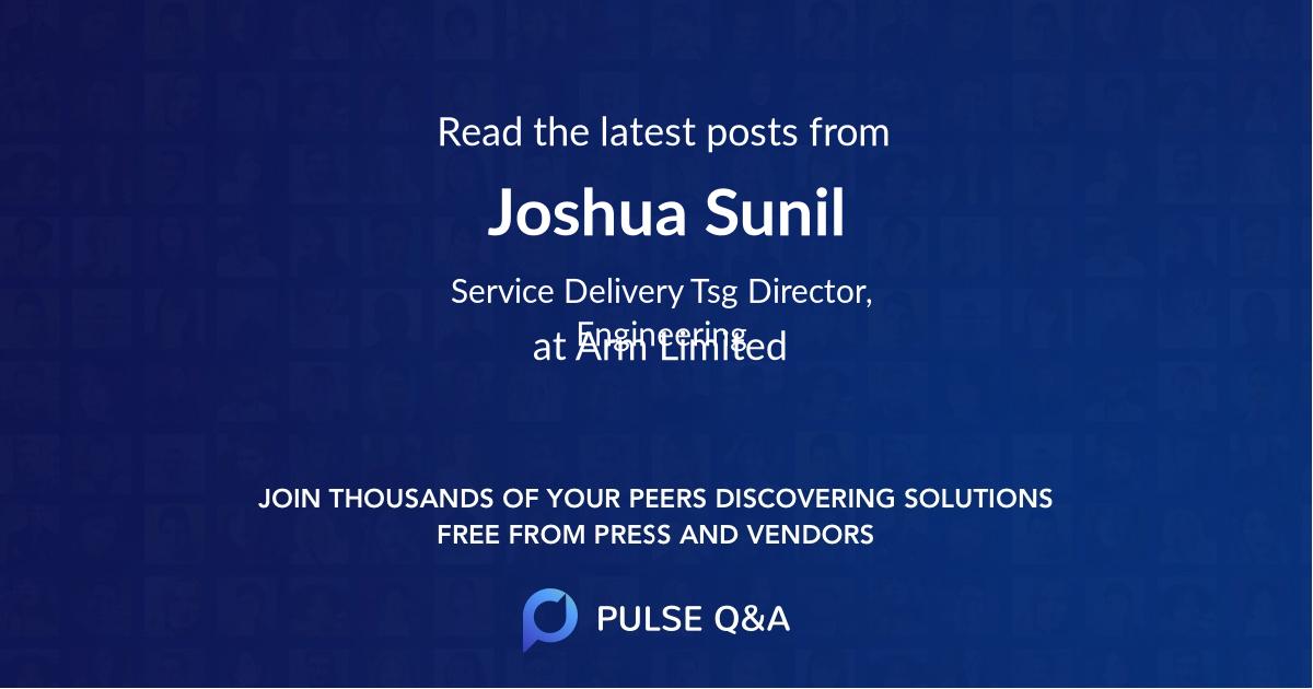Joshua Sunil