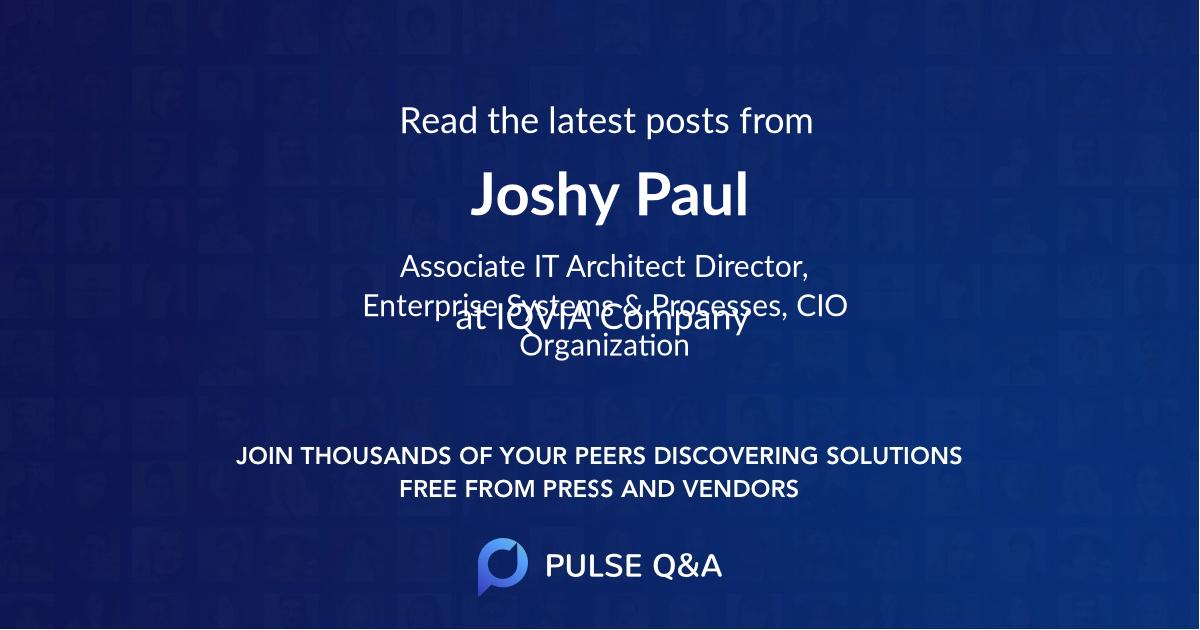 Joshy Paul