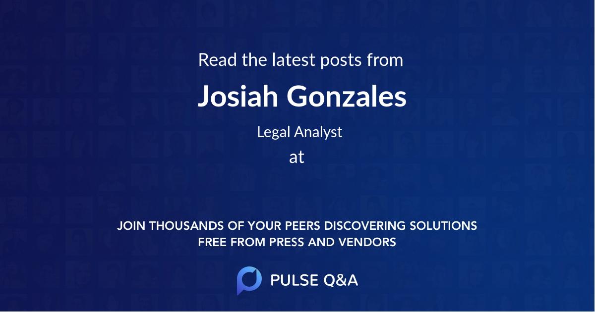 Josiah Gonzales