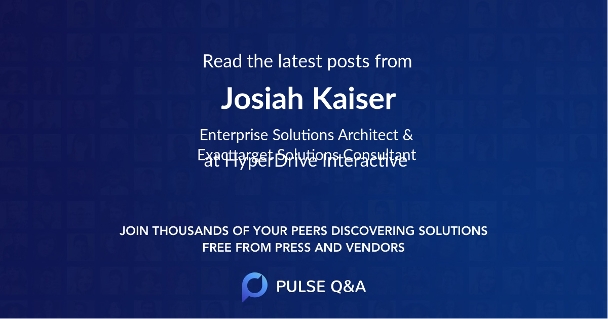 Josiah Kaiser