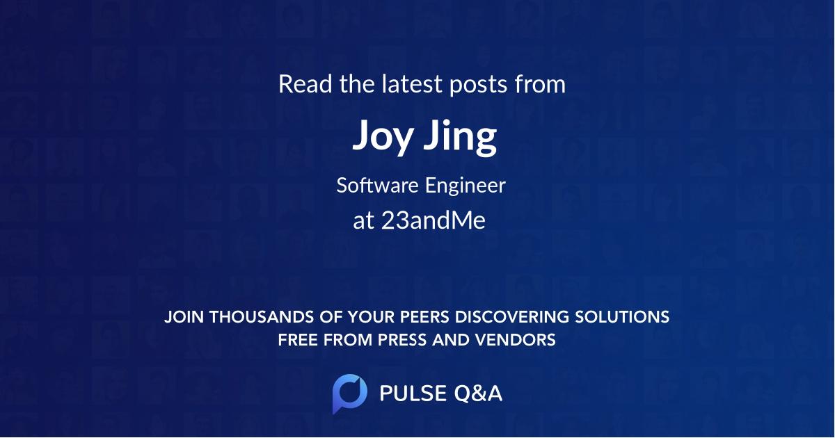 Joy Jing