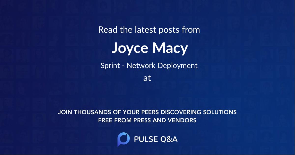 Joyce Macy