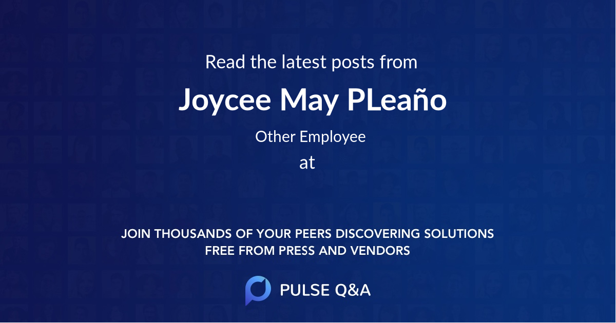 Joycee May P.Leaño