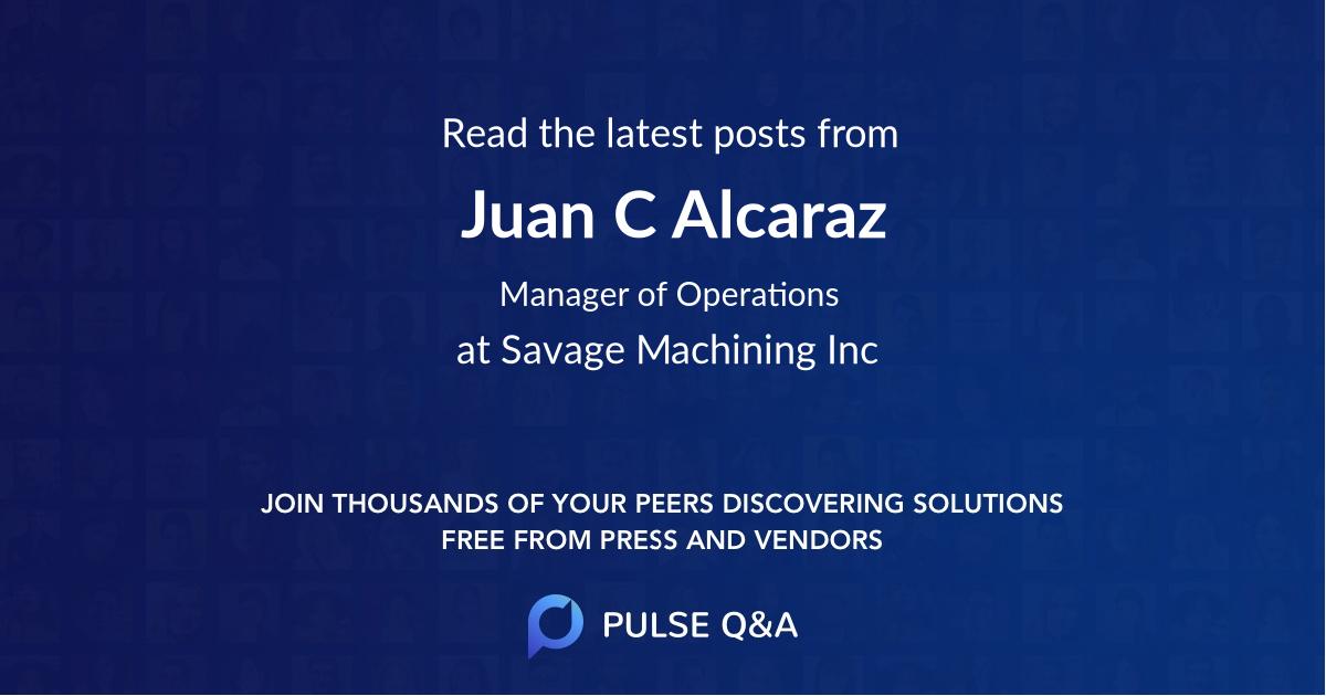 Juan C Alcaraz