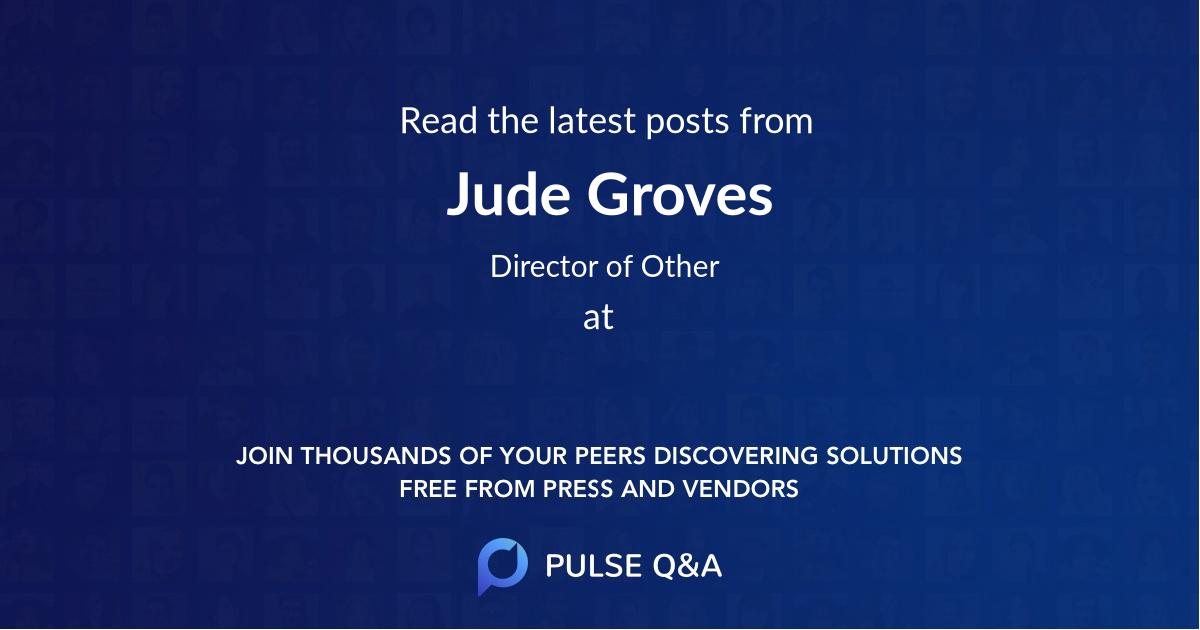 Jude Groves