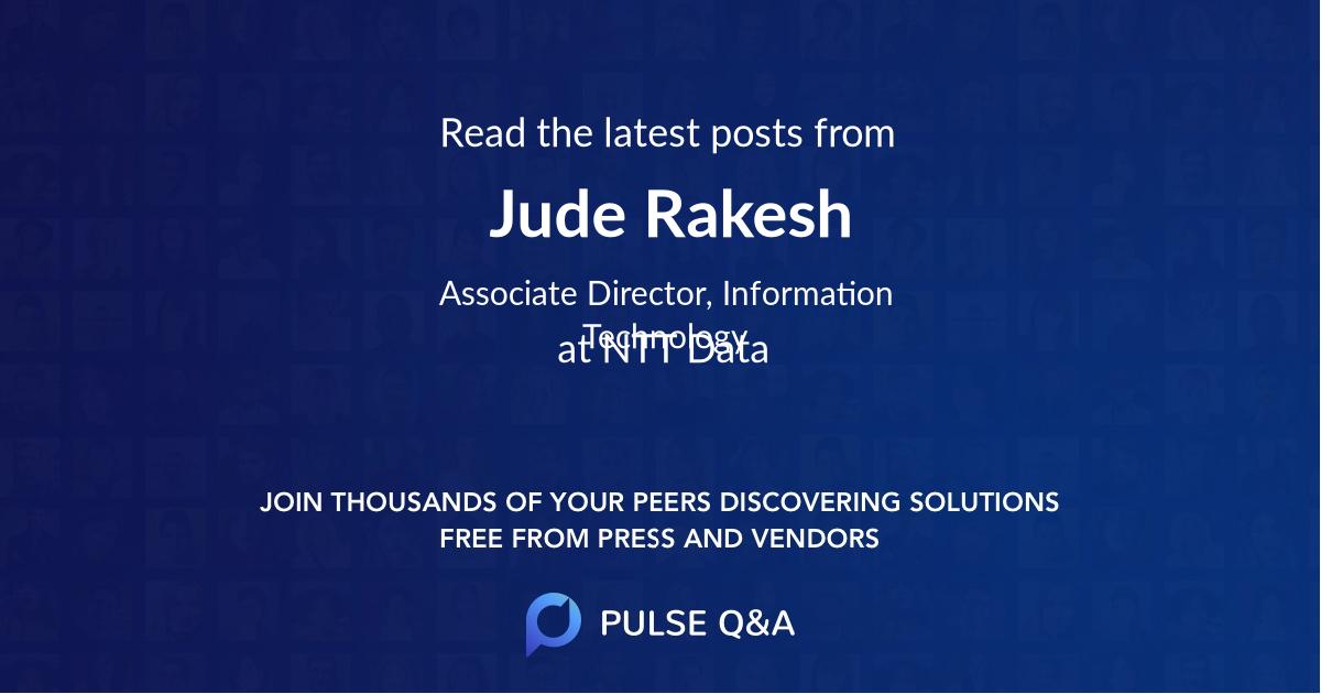 Jude Rakesh
