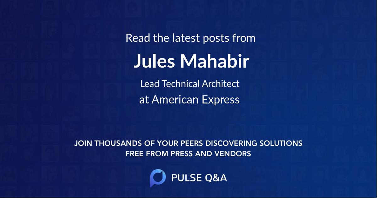 Jules Mahabir