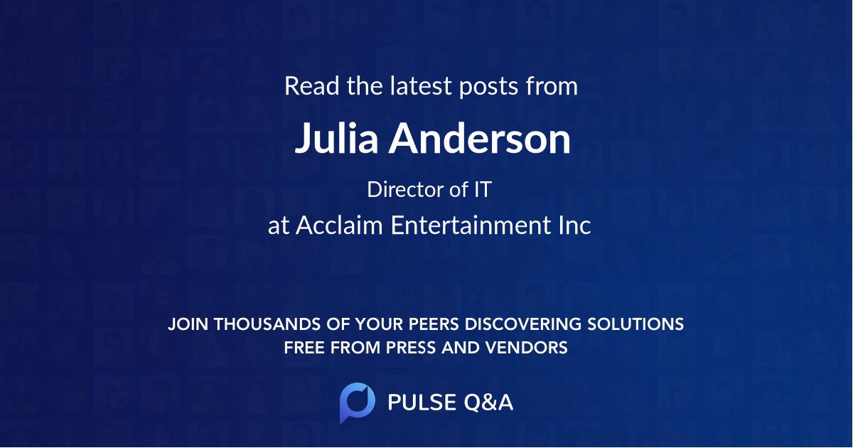 Julia Anderson