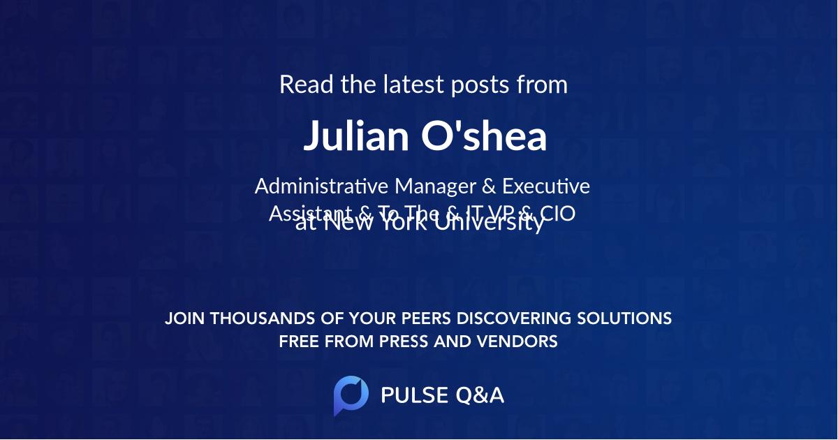 Julian O'shea