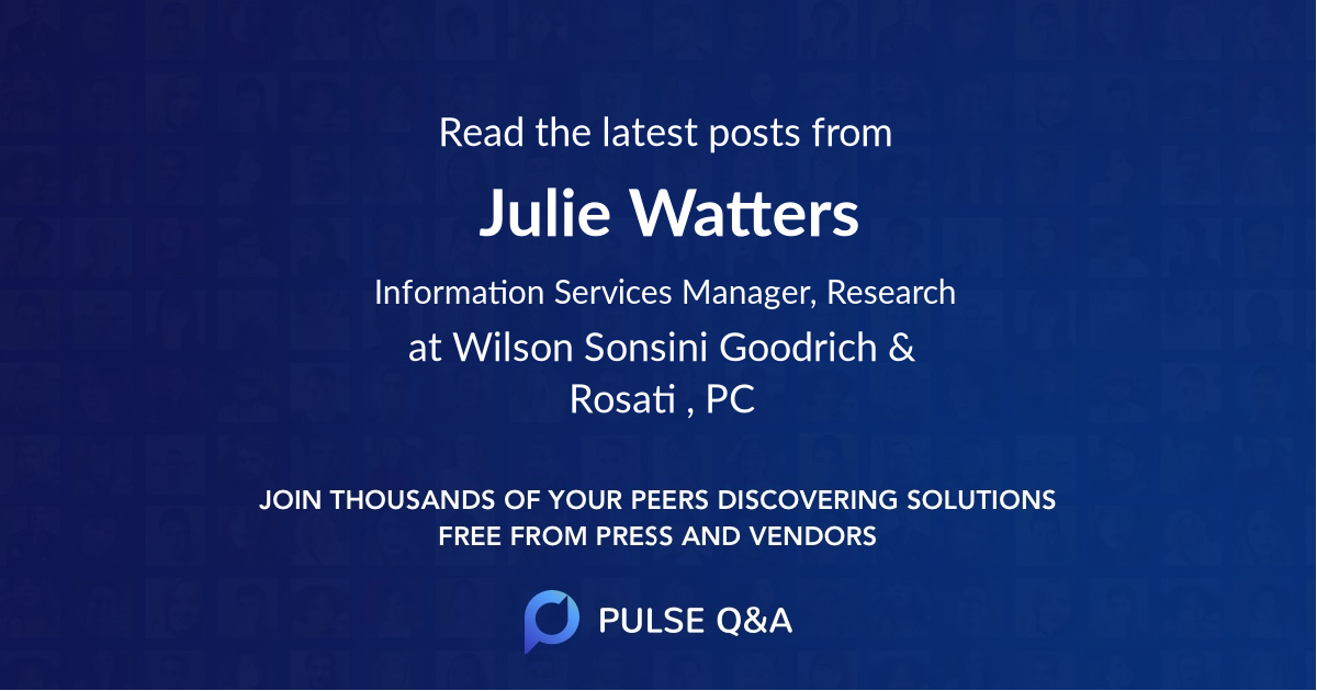 Julie Watters