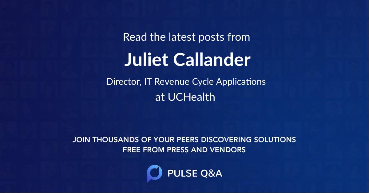 Juliet Callander