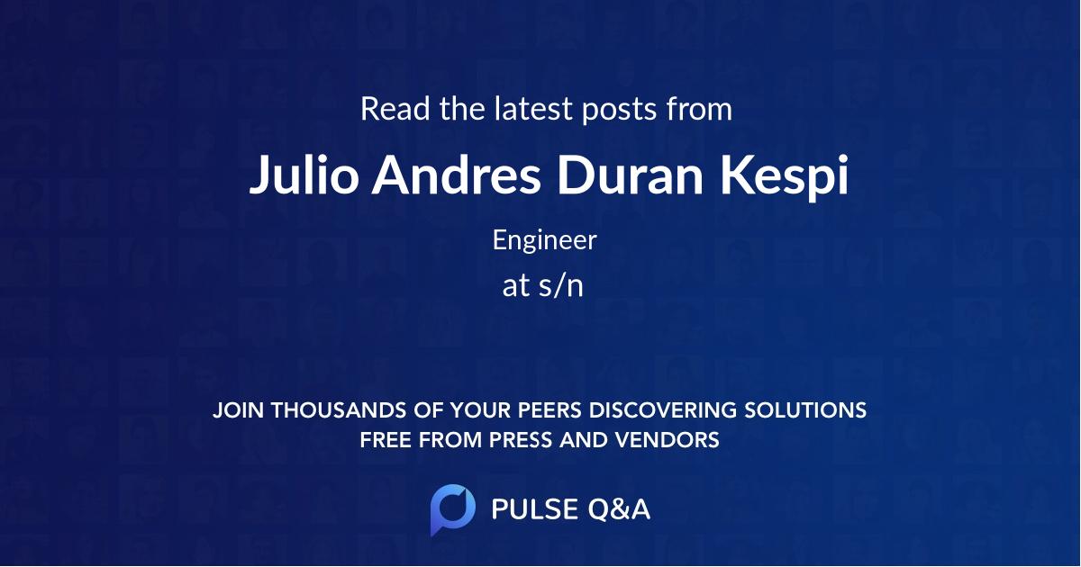 Julio Andres Duran Kespi