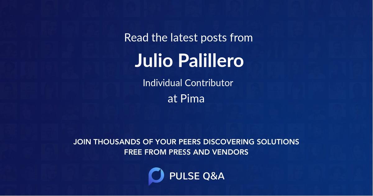 Julio Palillero