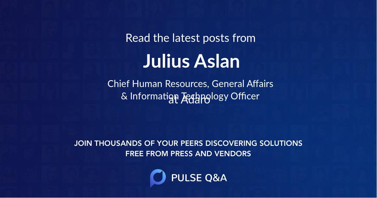 Julius Aslan