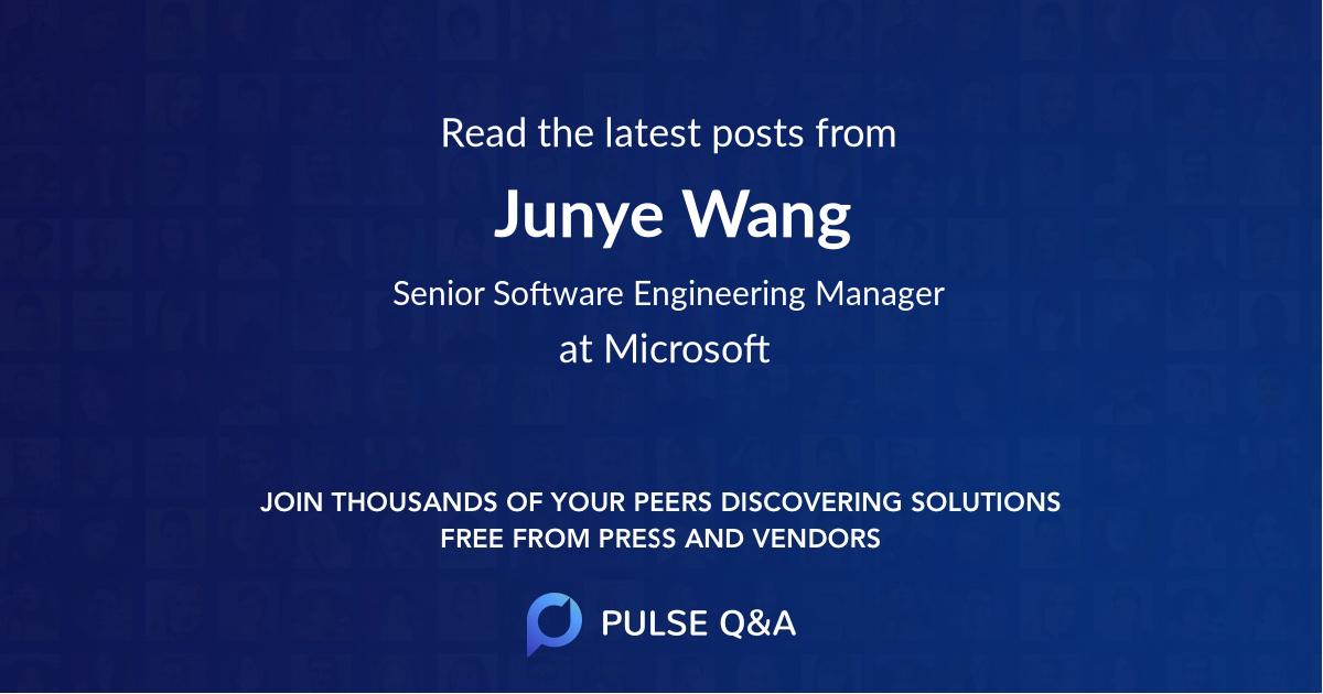 Junye Wang