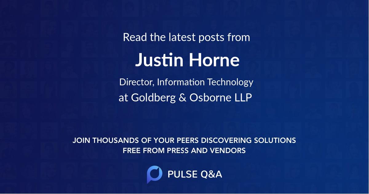 Justin Horne
