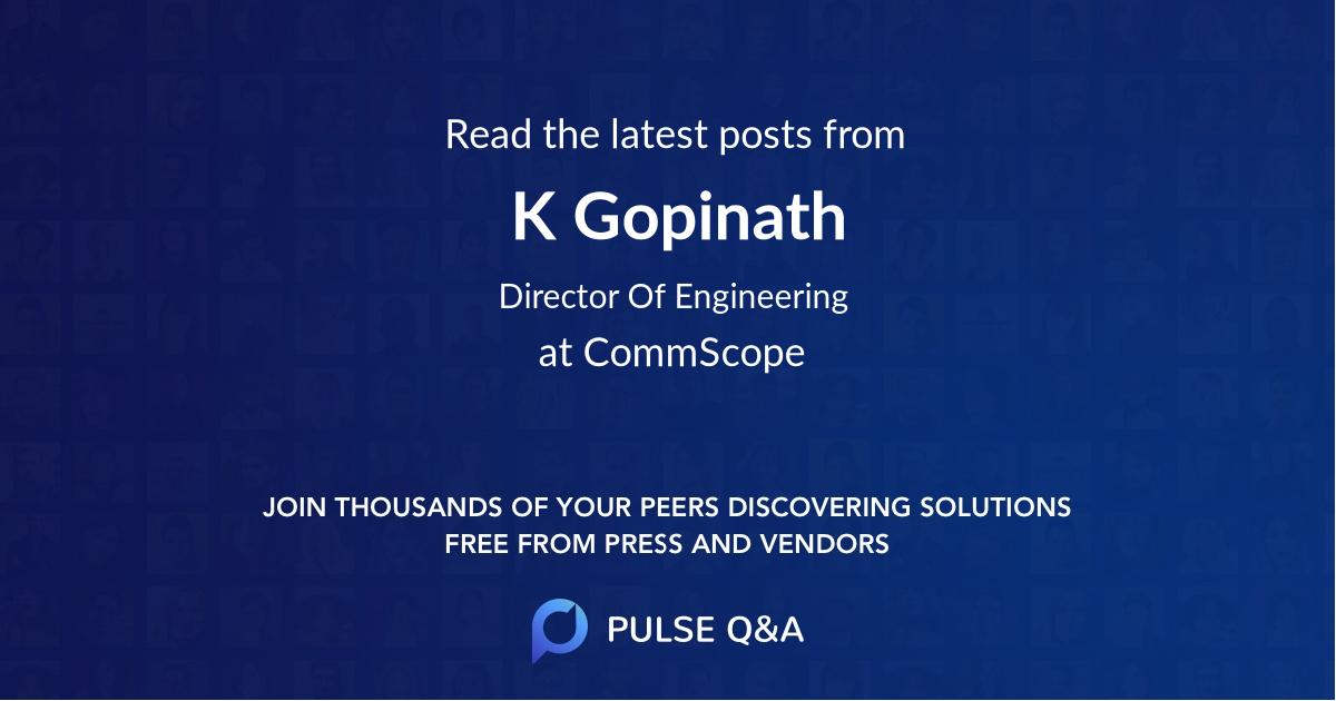 K Gopinath