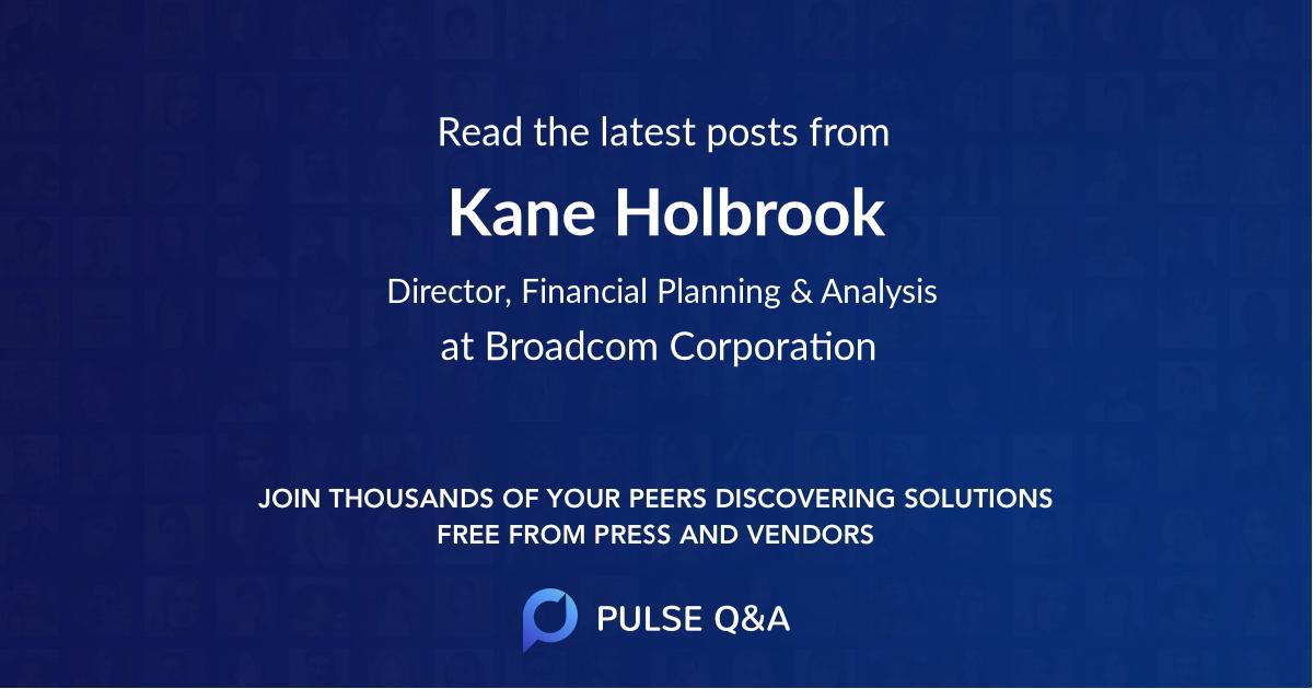 Kane Holbrook