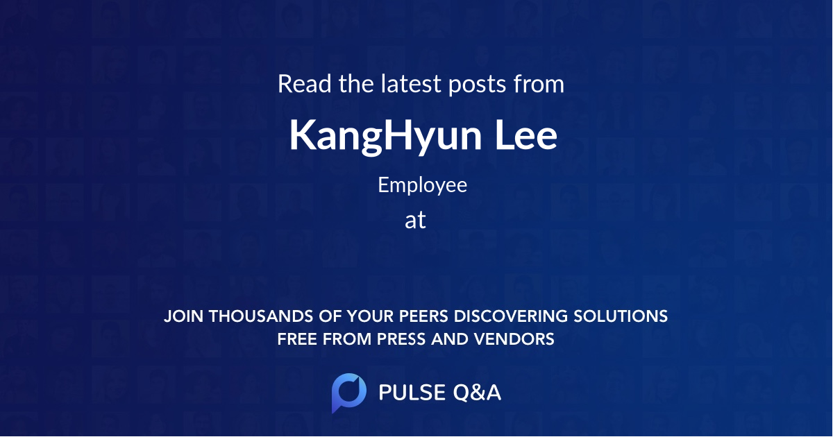 KangHyun Lee