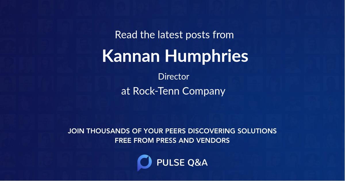 Kannan Humphries