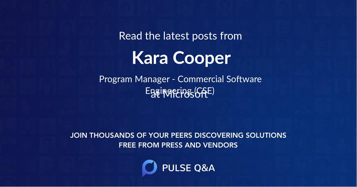 Kara Cooper